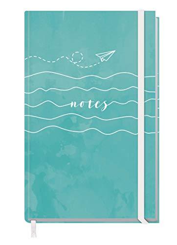 Notizbuch kariert A6+ mit Gummiband [Summer Dream] 156 Seiten   Notizheft, Bullet Journal, Tagebuch von Trendstuff by Häfft   nachhaltig & klimaneutral