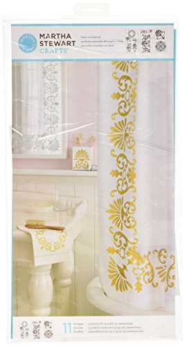 Martha Stewart Crafts Large Stencils (8.75 by 16.75-Inch), 32263 Tapestry (3 Sheets with 11 Designs)