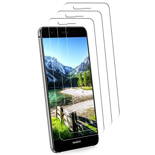 NONZERS 3 Pezzi Vetro Temperato per Huawei P10 Lite Pellicola Protettiva, Durezza 9H Anti-Graffo Alta Definizione Senza Bolle Protezione Facile da Pulire Vetro Protettivo Proteggi Schermo per P10 Lite