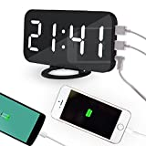 SHUAIGE Réveil numérique, Charge USB, 6 catégories de lumière réglable, Horloge...