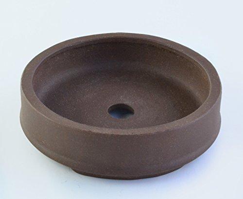 Small 5.5' Round Thin and Shallow Yixing Zisha Purple Clay Bonsai Pot (PE37-2)