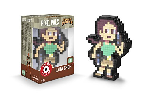 PDP Pixel Pals Classic Tomb Raider Lara Croft Collectible Lighted Figure, 878-047-NA-CLLC