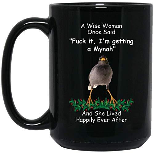 N\A Taza Divertida del Color del Gato de Ragamuffin para Las Mujeres una Mujer Sabia Dijo una Vez Taza de café Negro