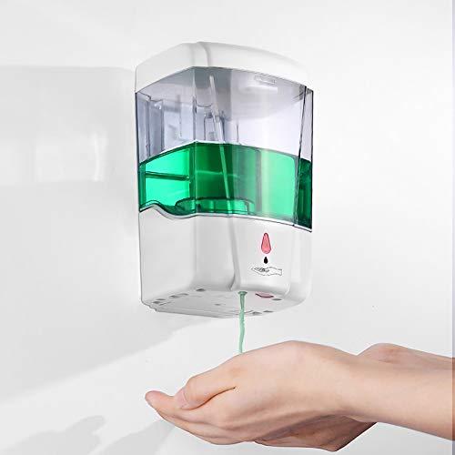 Dispensador gel hidroalcoholico pared, SUNASQ dispensador jabon automático pared 700ML, sin Contacto Manos Libres dispensador de jabon pared con Flujo regulable