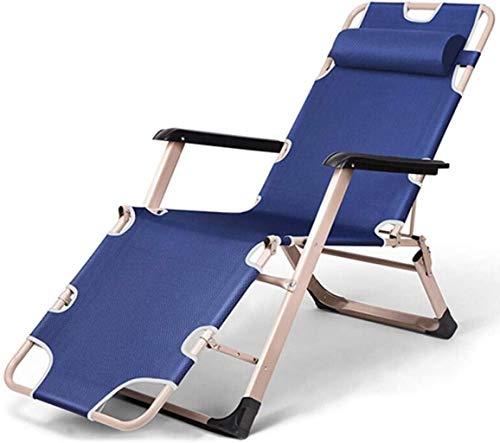BAOFI Silla, sillón, sofá Silla Plegable portátil de Mesa de Camping para Acampar recreación Que acompaña la ampliación Azul Tubo de respiración Dos Lados hacia el Exterior del Patio Casa Patio.