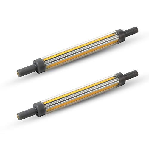 2 Packungen 9 W 118 mm R7s LED Leuchtmittel J118 COB Licht Warmweiß IP44 Energiesparlampe nicht dimmbar 360° Abstrahlwinkel 240 V