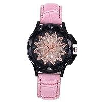 QTMIAO 美しいドレスウォッチ時計 女史ベルトが運命を時計クォーツ腕時計 (Color : 6)
