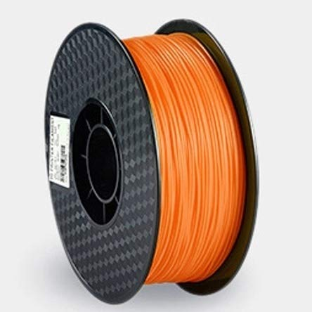 LSB-3D Prints, 1pc 3D Printer Filaments 3D Printer Plastic Wire 1.75mm PLA 250g/Roll 3D Printing Material Dimensional Accuracy (Color : Orange)