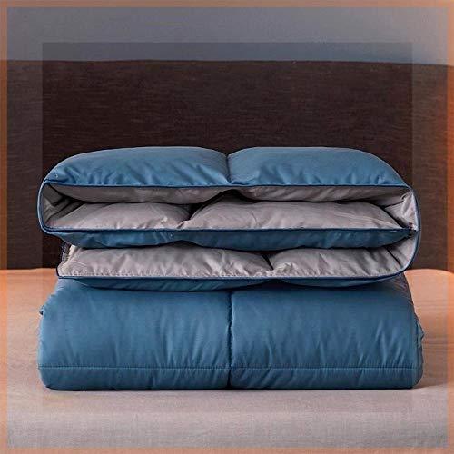 CHOU DAN Duvet 95 white goose down winter duvet core double warm single quilt-200X230cm 3000g_Blue and gray double color matching