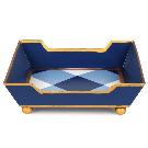 Blue Plaid Cocktail Napkin Holder - emilymccarthy.com