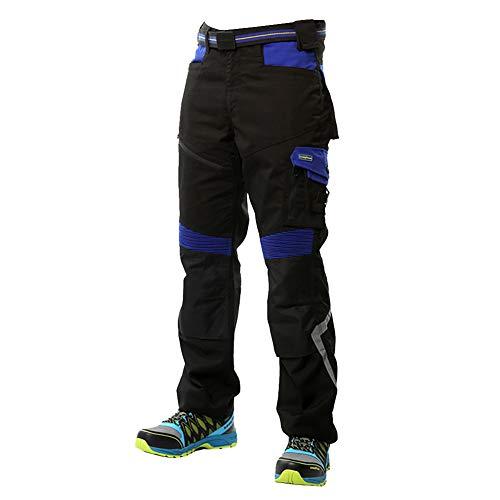 Goodyear Workwear GYPNT010 - Pantalones de trabajo para hombre, con bolsillos y bolsillos, color negro/azul real, talla 36 Regular
