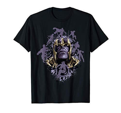 Marvel Avengers Endgame Shatter Logo Hero Silhouettes T-Shirt