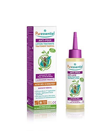 Puressentiel - Anti Poux - Lotion Traitante - Efficacité prouvée pour éliminer poux, larves et lentes - Actif dès 10 minutes - 100% naturel - 100 ml