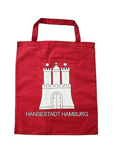 City Souvenir Shop Stoff-Tasche Hamburg Wappen, rot