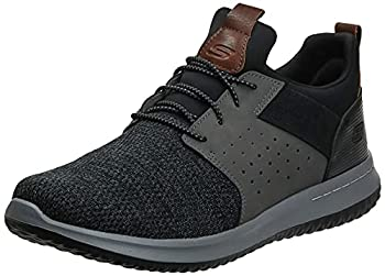 Skechers Men s Classic Fit-Delson-Camden Sneaker Black/Grey 13 Wide US