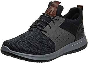 Skechers Men's Classic Fit-Delson-Camden Sneaker,black/Grey,9.5 M US