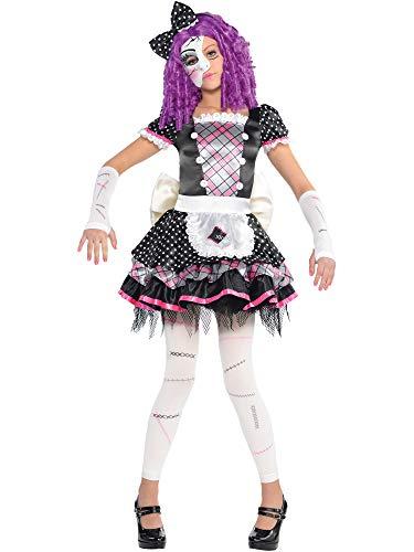 amscan - Disfraz para niña con diseño muñeca de porcelana, talla 8-10 años (999686)