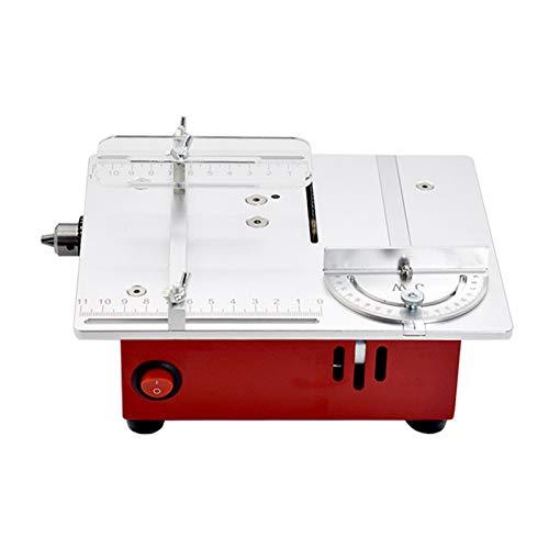 Elektrische Tischkreissäge, Mini Kreissägen Anhebbare Table Saw 96W 9200U / Min Für DIY Manuelles Modell/Leiterplattenschneiden/Kleines Kunststoffschneiden