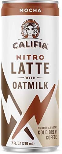 Califia Farms - Nitro Cold Brew Coffee, Oat Milk Latte - Mocha - 7 Oz (12 Cans) | Shelf Stable |...