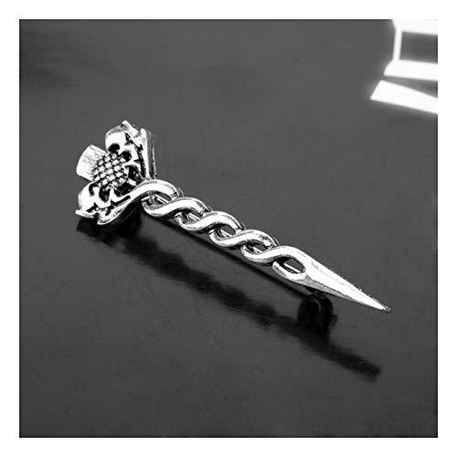 JiuErDP Campo de Batalla Antigua Leyenda de la Espada Broche Insignia de Solapa de la Vendimia león (Paquete de 2) Broches y alfileres
