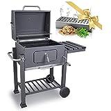 DARDARUGA Barbacoa de carbón parrilla XXL barbecue grill con ahumador fumador