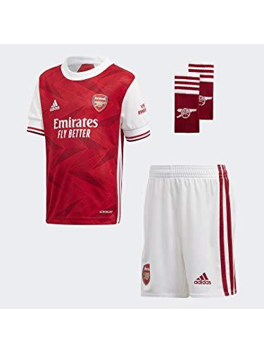 adidas Mini Arsenal FC Primera Equipación 2020-2021 Niño, Conjunto, Active Maroon-White, Talla 116 [cm]