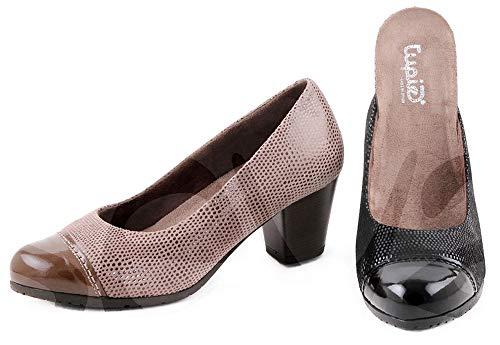 Zapatos Tupie 93 Corte-Piel,Forro-Textil,Plantilla-Textil y extraíble. Tacón:5,5cm. Fabricado en España.