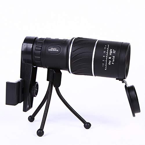 Soporte Para Teléfono Con Telescopio Monocular 16x52 Para Tomar Fotografías. Monoculares De Alta Definición, Monoculares Con Soporte Para Teléfono Inteligente Y Trípode. Los Monoculares Impermeables S