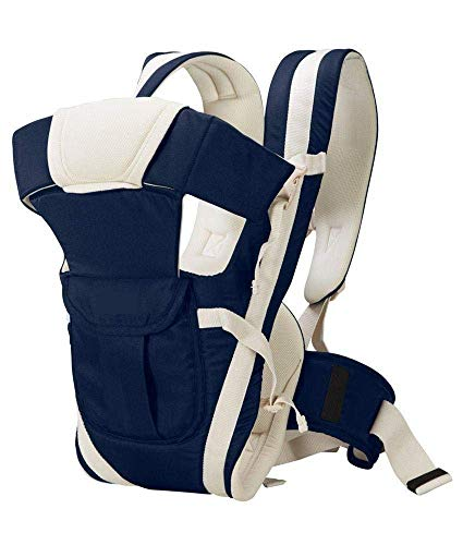 Chinmay Kids 4-in-1 Adjustable Baby Carrier Cum Kangaroo Bag/Honeycomb Texture Baby Carry Sling/Back/Front Carrier for Baby with...