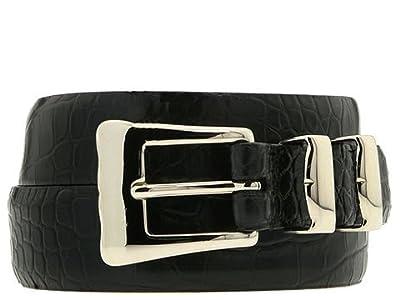 Torino Leather Co. 32-25MM Alligator Embossed Calf (Black) Men