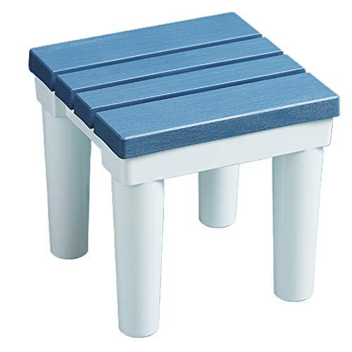WWDZ Taburetes para el baño Taburete bajo Antideslizante de 30 cm de Altura Banco de plástico Engrosado para el baño (10.63'x10.63'x11.81',Blue)