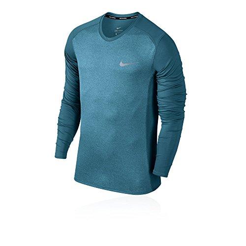 NIKE Hombres Secos de la Miler Camiseta, Hombre, Color Noise Aqua/Heather/Reflective Silver, tamaño Medium