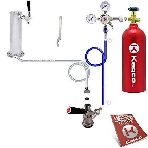 Kegco BF STCK-5T Standard Tower Kegerator Conversion Kit with 5 lb Co2 Tank