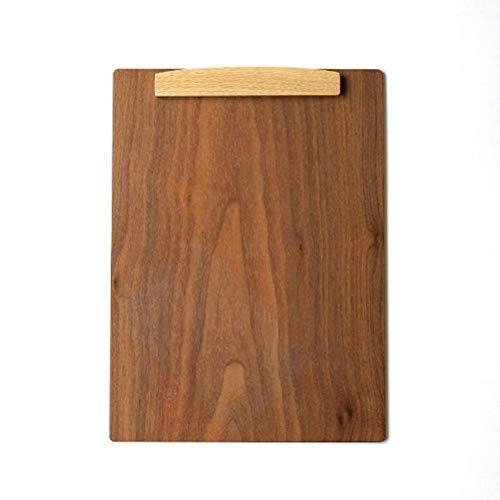バインダー A4 クリップボード 木製 マグネット 磁石 おしゃれ 縦横両 木のbinder ウォルナット [hkp2230]