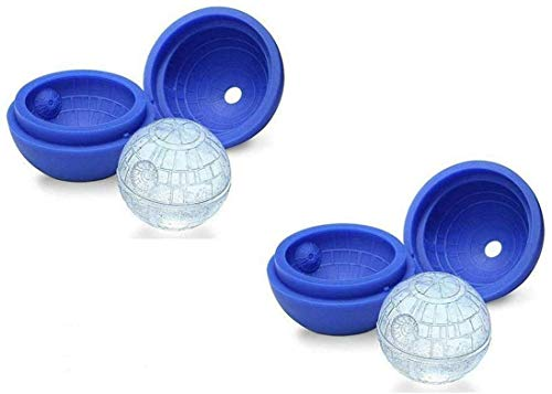 Morning May Star Wars 3D Death Star Silicone Ice Cube Tray (2 Pack)