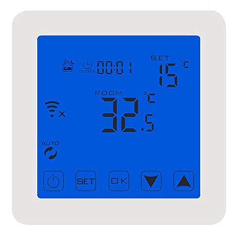 Controladores de temperatura de visualización digital Controlador de temperatura, Sistema de calefacción eléctrica Aplicación regulador inalámbrico Controlado Termostato inteligente y inteligente WiFi