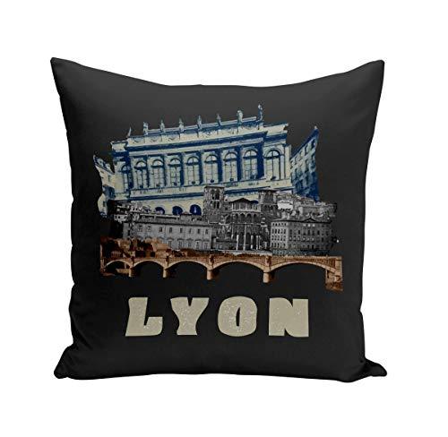 Fabulous Coussin 40x40 cm Lyon Collage France Ville Est Culture