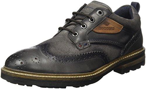 Dockers by Gerli 41bb007-244, Zapatos de Cordones Brogue Hombre, Gris (Dunkelgrau), 46 EU