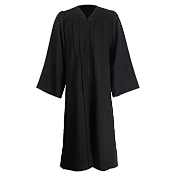GraduationMall Unisex Matte Graduation Gown for High School & Bachelor   Choir Robes for Church   Judge Robe Costumes Black Full Fit Size 57 Plus 6 0 -6 2