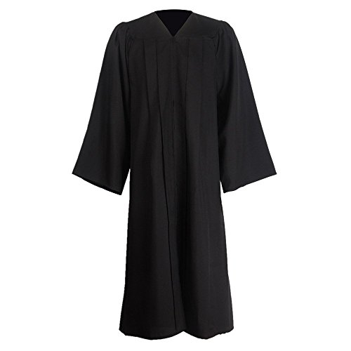 "GraduationMall Unisex Matte Graduation Gown for High School & Bachelor | Choir Robes for Church | Judge Robe Costumes Black X-Small 42(4'9""-4'11"")"