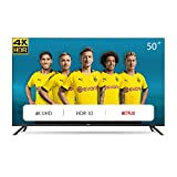 CHiQ Televisor Smart TV LED 50 Pulgadas 4K UHD, HDR 10/HLG, WiFi, Bluetooth, Youtube, Netflix, Prime...