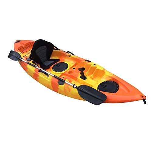 Cambridge Kayaks ES, Zander Naranja Y Amarillo Solo Kayak DE Pesca Y Paseo, RIGIDO,