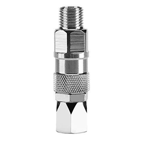 Cuque Drehgelenk für Spritzpistolenschlauch, luftloses 1/4-Zoll-Edelstahl-Drehgelenk für Hochdruck-Spritzpistolenschlauch für Farbspritzgeräte