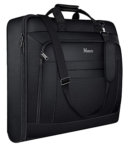 Garment Bags for Travel, Carry On Garment Bag for Business Trips with Shoulder Strap, Mancro...