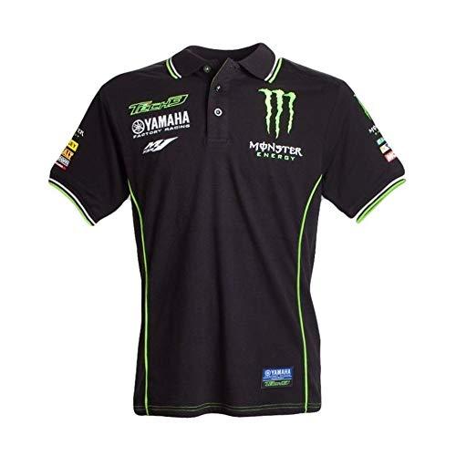 X.N.S(希望) XNS-023 [並行輸入品] モンスターエナジー メンズTシャツ半袖 バイク用Tシャツ (L, ブラック)