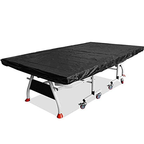 LPing Table Tennis Ping Pong Table Cover Heavy Duty Waterproof Dustproof Rain Protector Full Size 280x150cm Table Tennis Table Dust Cover Outdoor/Indoor Desk Protective Cloth (Black)