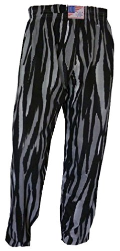 USA SPORTS Gym Yoga Baggys Baggies Muskel-Training Sport Casual Hose S M L XL Grau Zebra Streifen Print Gr. XX-Large 40/42 Taille, gestreift