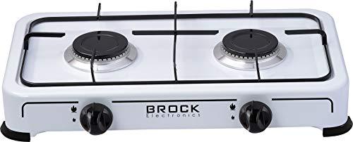 Brock Electronics Gs-002-W gasfornuis, 20 kg, 0 decibel, gietijzer, 4 snelheden, wit