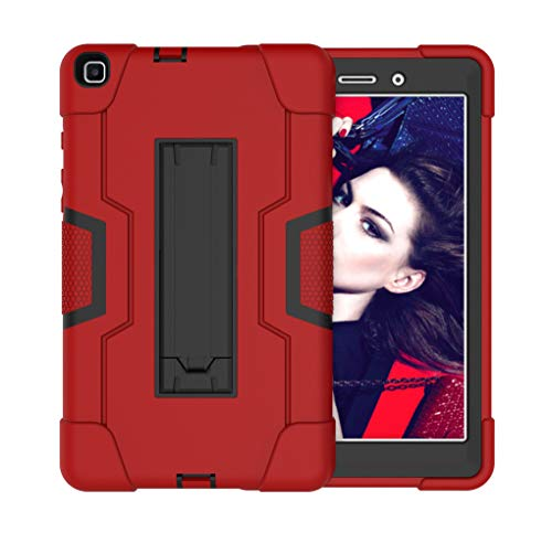 Cantis Galaxy Tab A 8.0 2019 Case(SM-T290/T295),Slim Heavy Duty Shockproof Rugged Full Body Protective Case for Galaxy Tab A 8.0 Inch 2019 Without S Pen Model SM-T290/SM-T295 (red)