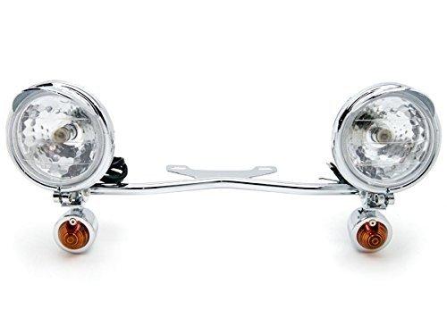 2 x Motorcycle Parts Chrome Racing Custom Amber Bulbs Turn Signals Spot Light Bar Blinkers Indicators Touring Lights Accessories Fit For Suzuki Boulevard C109R C50 C90